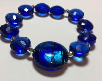 Passionate Blue Beaded Bracelet