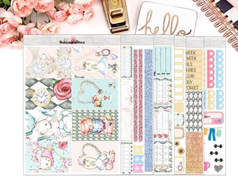 Alice Planner Stickers / Mambi Happy Planner Vertical Weekly Stickers / Full Kit