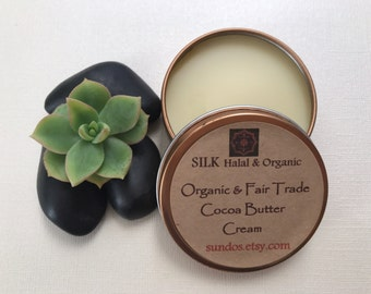 SILK Rich and Creamy Fair Trade, Organic Cocoa Butter or Shea Butter Hand and Body Cream