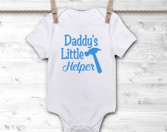 Daddy's Little Helper Onesie - Cute Onesie for Dad - Custom Baby Onesie - Custom Baby Gift - Custom Onesie - New Dad Gift - Daddy and Son