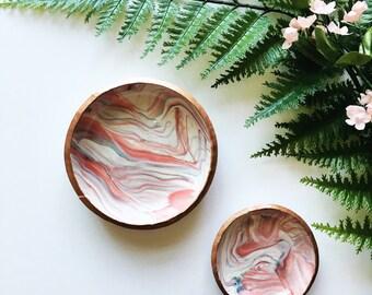 CARNELIAN & COPPER // Polymer Clay Jewelry Dish, Ring Dish, Trinket Dish, Ring Holder