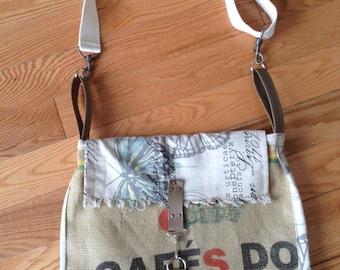 Coffee Sack Messenger Bag