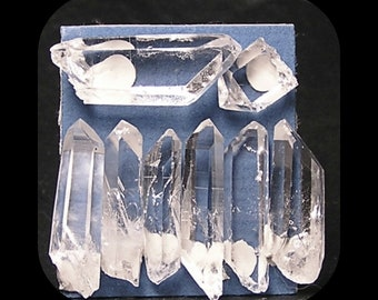 Quartz Clear Rock Crystals Jewel Gems, Raw Crystals Sticks, Earth Gemstones, Pixie Points, DIY Jewelry, Semiprecious gems
