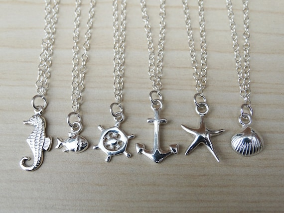Nautical Silver Anklet - Sterling Silver
