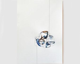 Original abstract art, ink drawing, art, modern art, minimal, abstract drawing, ink, ink art, minimal abstract wall art by Cristina Ripper