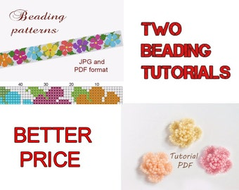 Beaded Bracelet Pattern Loom Bracelet Beaded Flower Pattern Loom Pattern Loom Beaded Bracelet Beading Patterns Beading Tutorial Bead Pattern