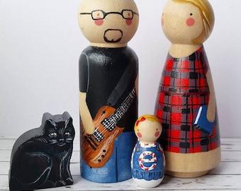 Custom Peg Doll Family
