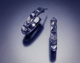 Gunmetal Hoop Earring