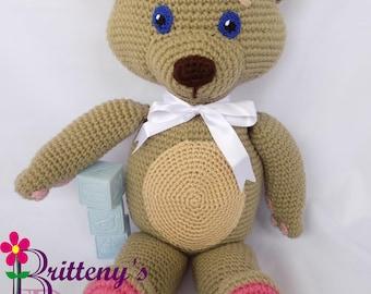 Teddy Bear Crochet Pattern - Crochet Teddy Bear Pattern - Amigurumi Bear Pattern - Cuddly Bear Plush Toy Stuffed Bear Crochet Pattern