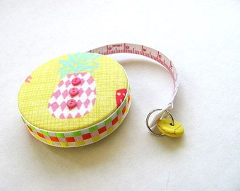 Tape Measure Pastel Pineapple Retractable Measuring Tape
