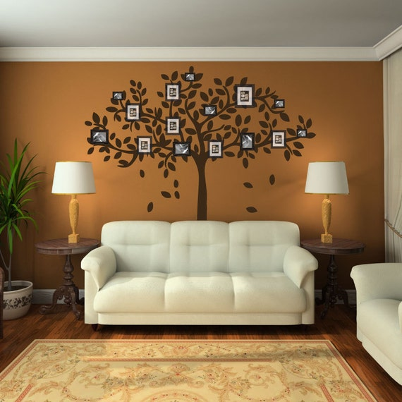 Family Tree Wall Decal Sticker Picture Frame Tree Branch