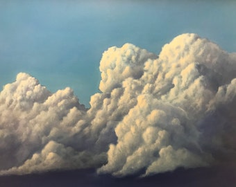 cloud painting, original painting, sky painting, oil painting, original oil painting