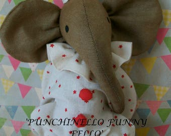 NEW REVISED Instant Download PUNCHINELLO Primitive/Vintage Elephant