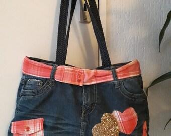Jean's recycled fashion handbag