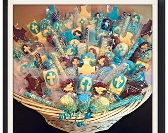 Baptism, Communion, Christening, Religious Chocolate Basket- COMMACK pickup only
