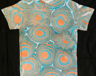 Flashing Lights Marbled Psychedelic Shirt Size Small