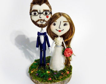 Teeny Tiny Handcrafted & Customized Halloween Keepsake Wedding Cake Toppers