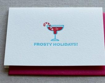 Frosty Holidays Letterpress Card & Envelope
