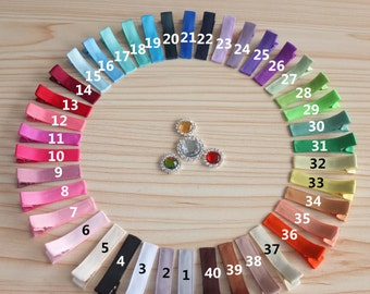 40-200 pcs,Lined Clips 1.75''Single Aligator Clips Partially Ribbon Clips Hair barrette Hairpins Baby Clips Making hair bows Supplies