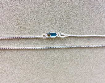 18 inch Sterling Silver Box Chain Necklace