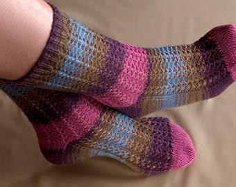 Jibber Lace Sock Knitting Pattern - PDF