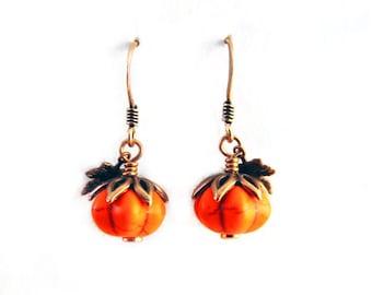 Harvest Pumpkin Earrings