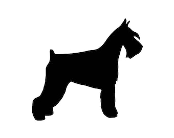 Schnauzer v1 Dog Breed Silhouette Custom Die Cut Vinyl Decal Sticker - Choose your Color and Size