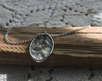 Sea Glass Worry Pendant Clear