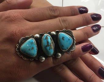 Navajo Ring Pilot Mountain Turquoise