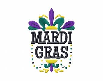 Mardi Gras Collection #04 Machine Embroidery Design