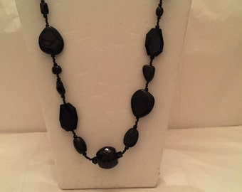 Long Midnight Asymmetrical Necklace
