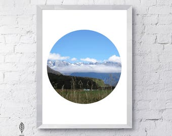 New Zealand Valley | Eco-friendly Printable Art Instant Download. Scenic Travel Photography. Modern Minimalist Print. Nature Wall Poster.