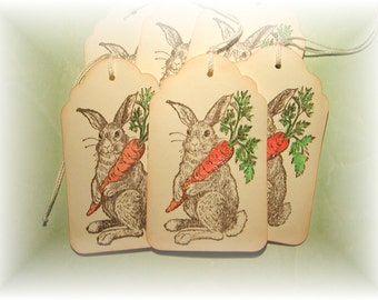Easter Bunny - Rabbit and Carrot - Hare Tags (6)