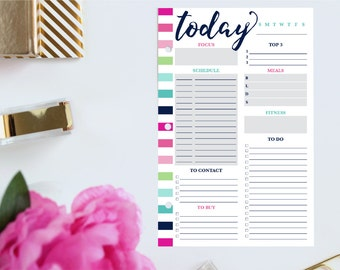 Daily Life Planner, Daily Schedule Planner, Daily Planner Printable Pages, Daily Planner Inserts, Personal Day Planner, Half Size Planner