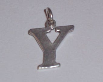Vintage Sterling Silver Initial Y Charm
