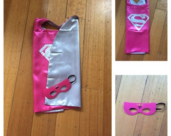 Kids Cape & Mask Set - Supergirl