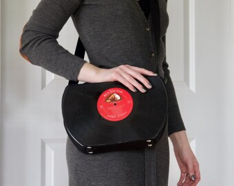 The Sound of Music / Breakfast At Tiffany's Vinyl Record Purse made from vintage vinyl records 33 rpm