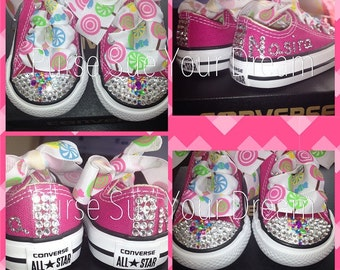 Candy Shoppe Design - Candyland Crystal Rhinestone Converse - Candyland birthday - Candy Shoppe - Infants/Toddler/Adults