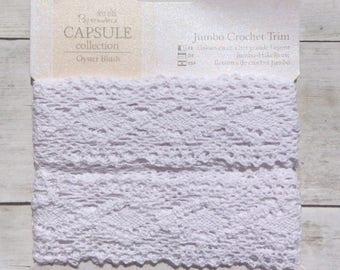 Crochet Trim Oyster Blush 2 Metres
