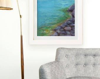Kalamalka Lake - Original Watercolour Painting - Canadian Art