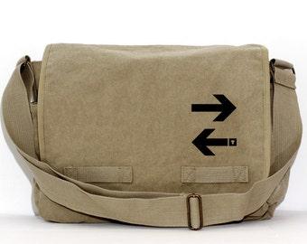 Messenger Bag | Subway ARROWS | Gift for Men | Camera Bag | Crossbody Bag | Travel | Large | Work Gift | Gift for Women | Gift for Boyfriend