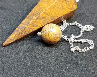 Very Rare Unusual Calligraphy (Miriam) Stone Pendulum