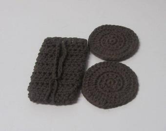 Soap Sack, Soap bag, Soap Saver, Cotton cloth, Face Scrubbies