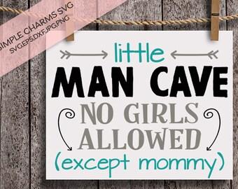 Little Man Cave cut file for Silhouette & Cricut type cutting machines