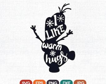 Olaf SVG, Frozen SVG Clip Art, Olaf Cut Files, Disney Frozen Quote SVG, Olaf Silhouette, Frozen Silhouette, Olaf Cricut, Olaf Iron On