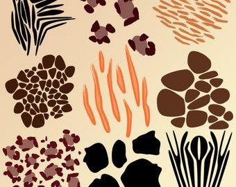 Animal Print Photoshop Brushes - Commercial and Personal