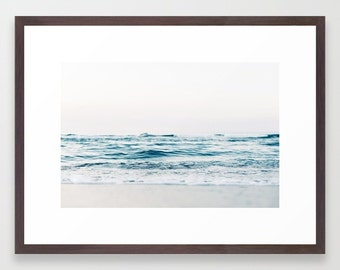 Coastal Waves Framed Print : Outdoor Photography - Modern Wall Art - California Ocean Sunrise - Made in America