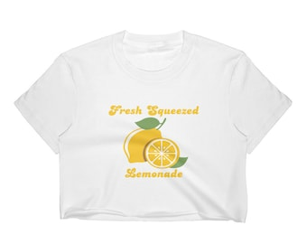 Fresh Squeezed Lemonade Women's Crop Top