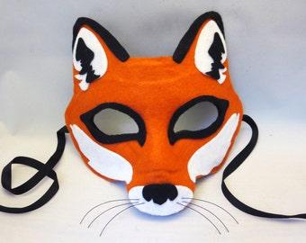 Felt Fox Chibi Mask Digital File