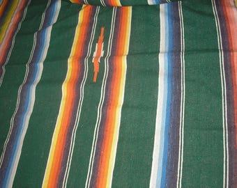 "Vintage; Mexican Serape Salitillo Blanket 46""x86"""